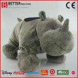 Het Realistische Gevulde Dierlijke Levensechte Zachte Speelgoed van de Pluche van de Rinoceros ASTM