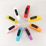 Uhr-mehrfache Brücke-Farben-Uhr der Pedometer-Uhr-Silikon-materielle Uhr-LED
