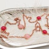 Echt nam Gouden Geplateerde Halsband met de Roze Steen van de Parel voor Indische Markt toe