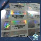 Barcode-Zahl-selbstklebender Hologramm-Kennsatz