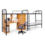 2명의 사람은 책상 내각 기숙사 침대를 가진 2단 침대를 두배로 한다
