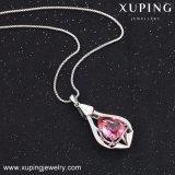 43214 Xuping Jóias de rosa e belas mulheres Colar de jóias feitas com cristais de Swarovski
