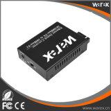 Längerer Reichweite-Faser-Media-Konverter 1X 100Base-FX zu 4X 10/100Base 1550nm 80km Sc