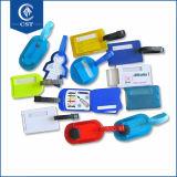 安い卸し売り飛行機旅行カスタム堅いプラスチックPVC荷物の札