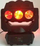 Luz móvil ligera del efecto de la araña de la pista LED de la nueva 9*12W 4in1 RGBW LED araña mágica de Rasha para la barra de la etapa de la TV