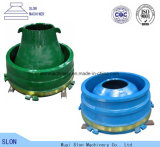 Nordberg Metso G2612 Kegel-Zerkleinerungsmaschine-Filterglocke-Zwischenlage, konkav und Umhang