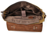 ワックスを掛けられたキャンバスおよびワックスを掛けられた革靴の革ハンドバッグ水Repellenceのメッセンジャーのラップトップ袋(RS-16960)