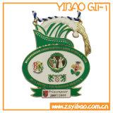Förderung-weiche Decklack-Medaille mit kundenspezifischem Farbband (YB-MD-55)