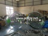Bola humana inflable del agua de la talla para los juegos del agua