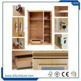 高品質の焦茶の贅沢な寝室の木のワードローブの戸棚