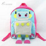 女の子ピンクのロボットノベルティポリエステルバックパック