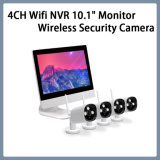 "4CH WiFi NVR Monitor de 10,1"" Sistema de cámaras de seguridad de red inalámbrica Kits CCTV"
