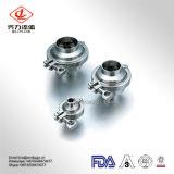 Fabriek 304 316L de Sanitaire Terugkeer van het Roestvrij staal laste niet de Vastgeklemde Ingepaste Klep van de Controle van de Flens