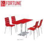 Гуанчжоу деревянные стол с ресторан 4 Специальные стулья с высоким качеством изображения для продажи (FOH-BC31C)