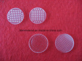 Vidro de quartzo transparente perfuradas a Laser Disc