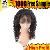 레이스 가발 100%년 Remy 브라질 가득 차있는 머리 최신 판매