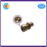 Acero de carbono de DIN/ANSI/BS/JIS/tornillos hexagonales multicolores galvanizados internacionales inoxidables de la combinación M6