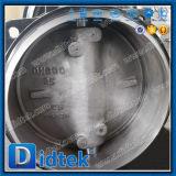 Cero fugas Didtek DN600 Wcb ensamblada la válvula de mariposa