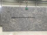 フロアーリング及び壁のタイルのためのGangsawの平板が付いている中国Juparanaの砂波の花こう岩