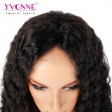 Yvonne Top Quaility virgen 180% Brasileña de densidad de pelo rizado peluca delantera de encaje