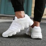 Les chaussures de course des hommes de tricotage de bas mou antidérapant respirable d'unité centrale de chaussures de sports des tailles importantes 46 des hommes de vente rapides