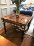 0069純木は贅沢なベニヤの光沢度の高い絵画コーヒーテーブルを覆った