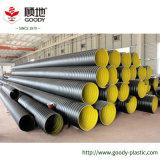 Tubo ondulato di drenaggio della doppia parete della fascia d'acciaio dell'HDPE
