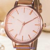 De Zwitserse Pols van het Kristal van het Horloge van de Mensen van het Kwarts van het Embleem van de douane voor de Mens (wy-17008B)