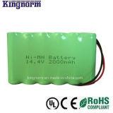 Pacchetto basso della batteria di idruro di metallo di nichel di autoscarica AA2000 14.4V NiMH