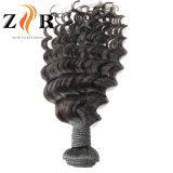 インドのバージンのRemyの人間の毛髪の織り方の販売の緩いカール様式