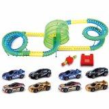 Brinquedos de alta velocidade do entalhe do controle da voz do carro do caminho de ferro elétrico da raça DIY