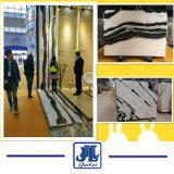 Il marmo bianco del panda copre di tegoli /Slabs per la pavimentazione, il controsoffitto della cucina o la parete