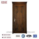 Disegni di legno principali del doppio portello del portello di legno solido di disegni moderni