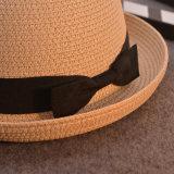 Sombrero de paja del sombrero de ala del verano