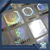 Ologramma corrente dell'autoadesivo di obbligazione del laser di numeri
