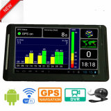 """Новая 7.0 """" Android камера черного ящика автомобиля WiFi полная HD 1080P с автомобилем DVR GPS Bluetooth, G-Датчиком, ночным видением, паркуя видеозаписывающим устройством цифров черточки вагона управления"""