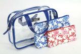 Sacchetti cosmetici Blu-e-Bianchi dell'unità di elaborazione impostati 3 parti (BDY-1709041)