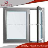 La série 50 meilleures ventes de l'aluminium double fenêtre à battant en verre trempé