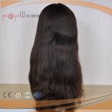 La parte superior de la seda Kosher judío peluca de cabello virgen (PPG-L-01513)
