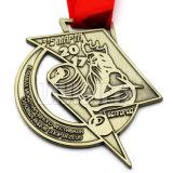 Medaglia Bronze antica su ordinazione del premio del metallo di marchio di modo poco costoso