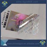 Kundenspezifischer silberner permanenter Laser-Aufkleber des Material-3D