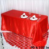 Decoração de panos dos casamentos dos Tablecloths do retângulo de pano de tabela do poliéster do casamento