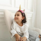 아이를 위한 Handmade 공상 아기 머리띠 Unicorn 머리 부속품