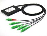 Divisor Gpon 1X4 do módulo ABS divisor PLC em Fibra Óptica