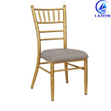 Aluminio Metal Chiavari silla con soldadura completa