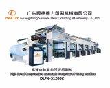 薄いペーパー(DLFX-51200C)のための高速自動グラビア印刷の印字機