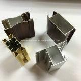 Het vierkante, Ronde, Verschillende Profiel van de Uitdrijving van de Legering van het Aluminium voor Deur en de Buis `108 van het Venster