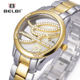 Reloj impermeable creativo personalizado de Brandquartz del acero inoxidable del reloj de señoras de Belbi
