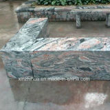 中国Juparanaの赤い炎の花こう岩の煉瓦立方体の花こう岩の床タイル