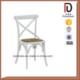 Traverse arrière de la peinture du métal chaise de style jardin extérieur résistant